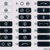 sada štítků na vysílače eco a spectrum (005-01-00603..610)