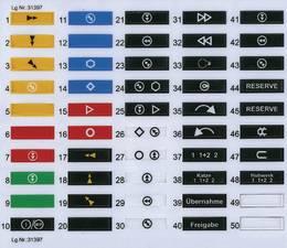 štítky na vysílač micron 4, barevné