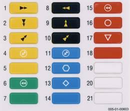štítky na vysílač eco a spectrum (pohyby barevné ...)